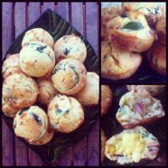 Bacon Spinach Muffins