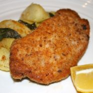 Crumbed Pork Loin w Sautéed Apples, Potatoes and Sage
