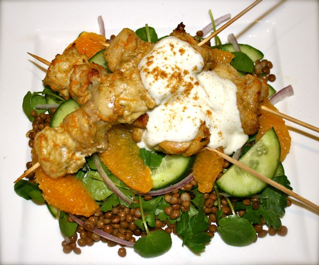 Cumin-spiced chicken-skewers-w-orange-lentil-salad