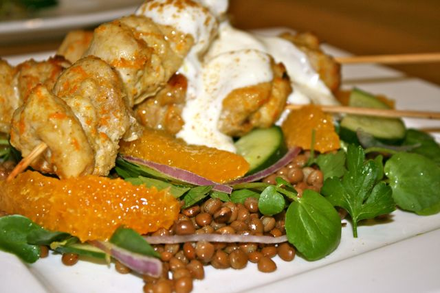Cumin-spiced-chicken-skewers-w-orange-lentil-salad