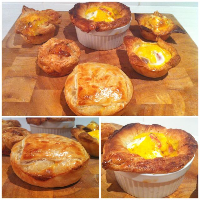 mini chorizo bacon and egg pie test
