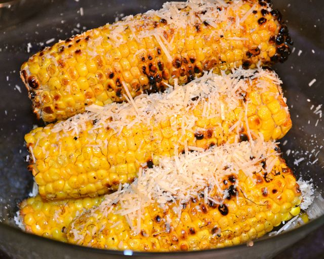 Mexican bbq corn on the cob