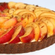 Nectarine Tart with Ginger Nut biscuit base