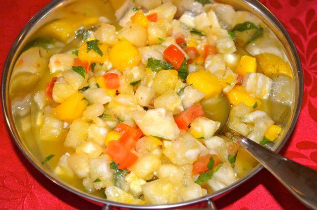 Pinapple mango salsa