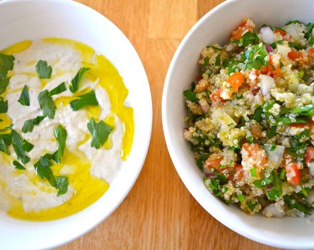 Baba ganoush quinoa tabouli