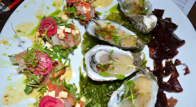 Freshley chucked oysters and Smoked Swordfish