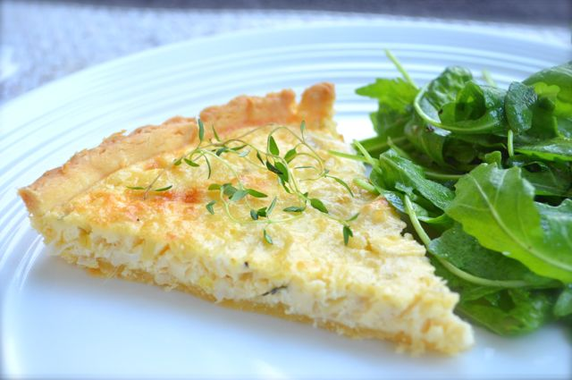 Leek & Goats Cheese Tart12