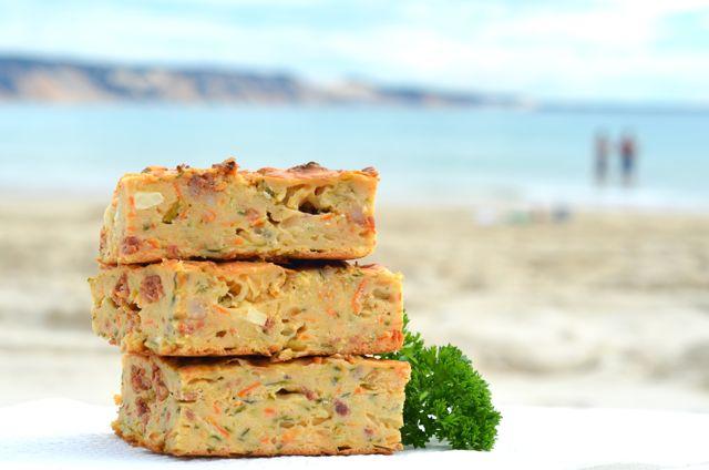 Zucchini chorizo feta slice seaside1