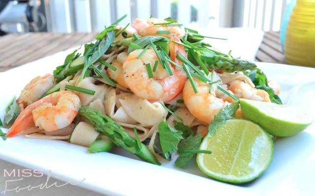 Prawn Asparagus Pasta Nuac Cham Dressing - Miss Foodie6
