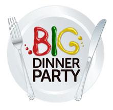 Big Dinner Party logo MS Queensland