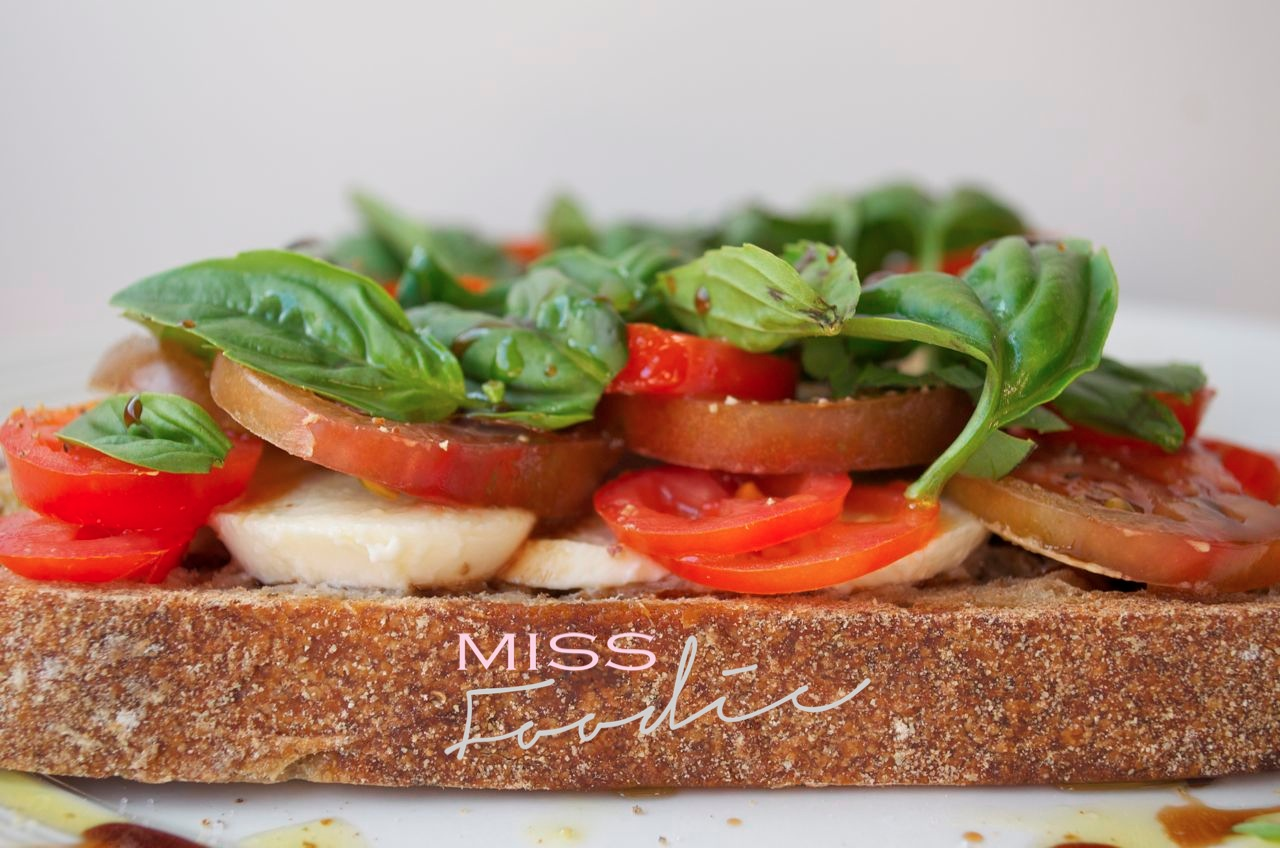 Open Caprese Salad Sandwich Miss Foodie4_1