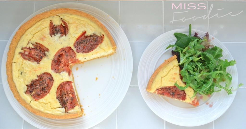 Polenta Crust Tomato Tart Miss Foodie5_1