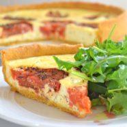 Polenta Crust Tomato Tart