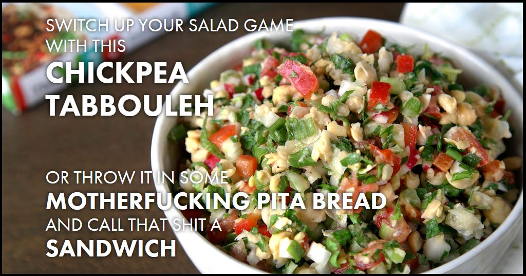 Chickpea Tabbouleh - Thug Kitchen - Miss Foodie