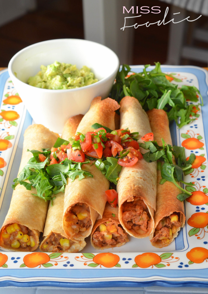 Sweet corn and green chile baked flautas - Miss Foodie3-2