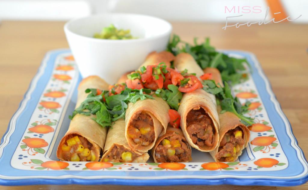 Sweet Corn and Green Chili Baked Flautas - Thug Kitchen - MissFoodie