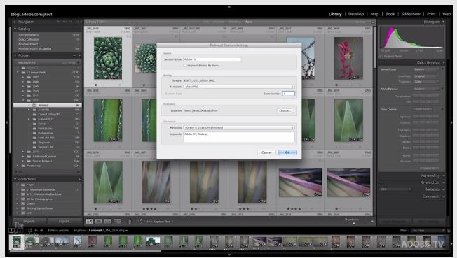 Tethered Capture in Lightroom - Adobe TV tutorial - Miss Foodie