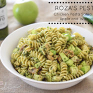 Pesto Chicken Pasta w Apple & Walnuts