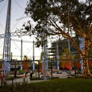 Official Lighting of Gasworks' Gasometer Frame