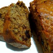 Spelt & Honey Banana Bread w/ Dates & Walnuts