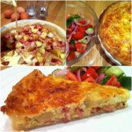 Bacon, Sundried Tomato & Leftover Roast Potato Quiche