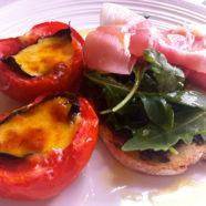 Roasted Tomato & Mozzarella w Olive Tapenade & Prosciutto
