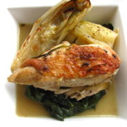 Chicken Braised w Tarragon, Witlof & Leeks