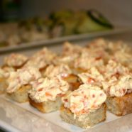 Miss Foodie Dinner – Smoked Salmon Crostini + Cucumber Feta Canape's