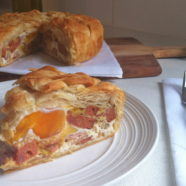 Chorizo, Bacon and Egg Pie