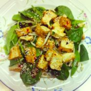 Tofu Salad with Miso dressing