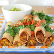 Sweet Corn and Green Chili Baked Flautas – Thug Kitchen