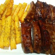 Pork Ribs w/ Polenta Chips