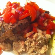 Balsamic Steak with Cannellini Bean Mash & Salsa